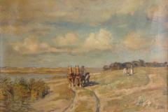 Før restaurering af landskabsmaleri ca. 1890